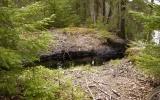 Avskuren banvall vid Binnaremåla 2008-04-26