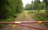 Banvallen in mot Påryd, Ljungbyholm-Karlslunda Järnväg 2008-07-08