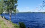 Banvallen längs sjön Väsman 2018-06-29