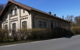 Börringe station, gatusidan, 2015-04-05