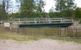 Bro över Bulsjön. Detta är inte järnvägsbron i orginal, utan återuppbyggd som landsvägsbro, 2008-07-03