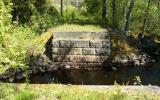 Brofäste efter järnvägsbro över Stångån vid Ödesjöfors 2012-05-25