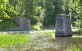 Brofäste i Gusum tillhörande järnvägsbron som gick över Gusumsån 2011-06-28