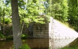 Brofäste till järnvägsbro över Alsterån i Fröseke 2007-07-02