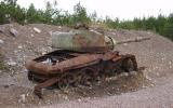 En stridsvagn på Kosta skjutfält 2007-07-28