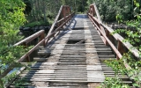 Gammal, trasig landsvägsbro över Voxnan 2016-06-26