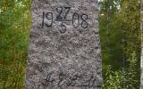 Gränssten mellan Småland och Blekinge 2013-10-06