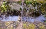 Här fanns inte ens rester av bron kvar där vi skulle över 2007-07-28