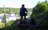 Järnvägen högt över Bengtsfors 2012-06-26