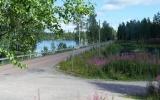 Järnvägsbank över sjön Öjen 2017-08-10