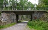 Järnvägsbro över landsvägen i Sävsjöström 2013-07-15