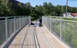 Järnvägsspår på bron över gullspångsälven 2019-06-10