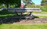 Järnvägsvagn med aspstockar vid Smålands Anneberg 2013-06-09