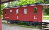 Järnvägsvagn vid Fryksta station från SJ-tiden 2013-06-21