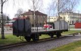 Järnvägsvagn vid Nossebro 2013-05-03