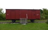 Järnvägsvagn vid Tjuls hållplats 2013-08-20