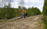 Järnvgäsbro över bäck norr om Reftele 2008-05-24