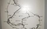Karta över Bornholms järnvägar 2009-08-13