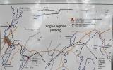 Karta över Yng-Daglöse Järnväg hämtad från info-tavla nedanför Abborrberget 2017-08-07