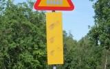 Kvarglömd varningsskylt 2018-06-20