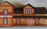 Modell av Ockelbo station 2018-06-24