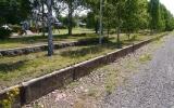 Perrongkanten är allt som finns kvar av stationen i Gullaskriv 2013-07-15