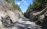 Skärningen mellan Björnhyttan och Björkås där det rasade 2017, 2018-06-29
