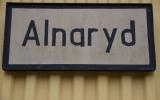 Skylt till Alnaryds station 2013-10-13