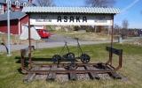 Skylten från Åsaka station 2013-05-03