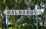 Skylten vid Bälsåsby hållplats 2014-06-21