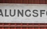 Stationsskylten från Malungsfors station 2018-06-28
