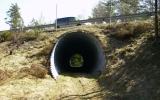 Tunnel av korrigerad plåt under riksväg 40, 2011-04-23