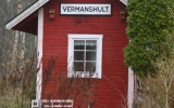 Uthus vid Vermanshult station 2014-04-06