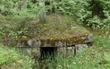 Vägtrumma under banvallen norr om Hällefors