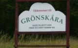 Välkomstskylt i Grönskåra 2007-07-09