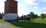 Vattentorn med avhärdare från 1947, i Stånga 2013-08-21