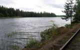 Vy från järnvägen över sjön Skagern 2019-06-09