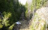 Vy ner mot banvallen vid Torhult 2011-04-23